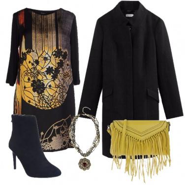 Outfit Elegante in nero e giallo