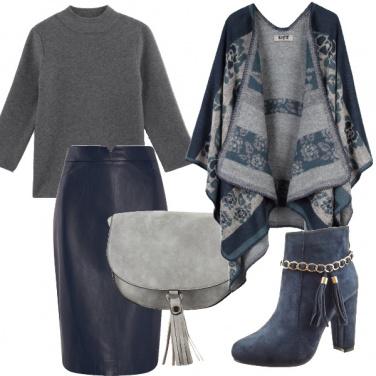 Outfit Tante occasioni in grigio e blu