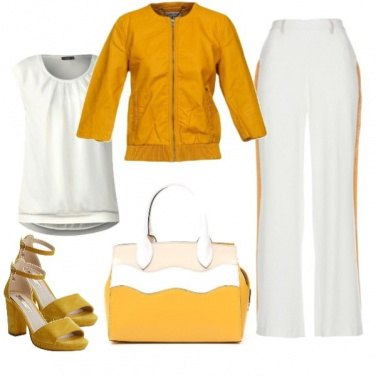 Outfit Bianco e giallo come Freddy