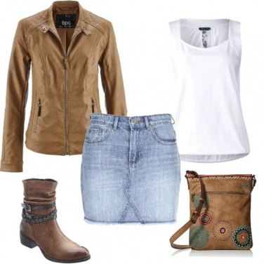 Outfit Gonna jeans a settembre
