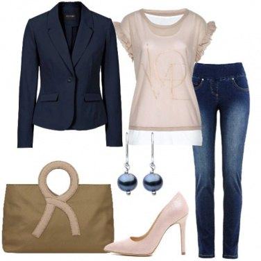 Outfit In ufficio jeans e décolleté