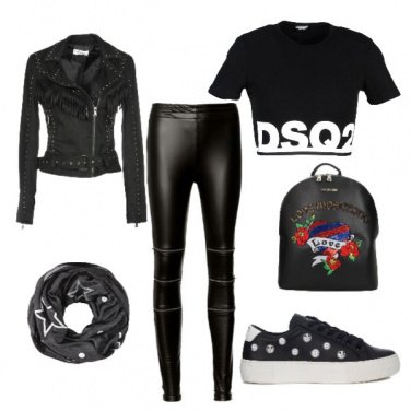 Outfit Stasera concerto rock!