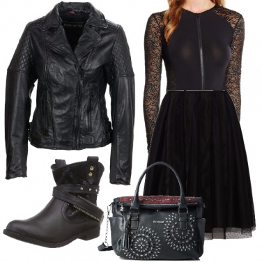 Outfit Rock dall\'anima chic