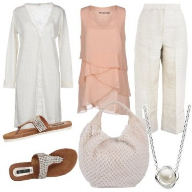 Outfit CMPS Linee fluide in lino