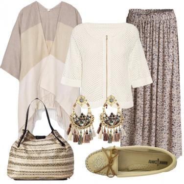 Outfit Ispirazione bohèmien nei colori neutri