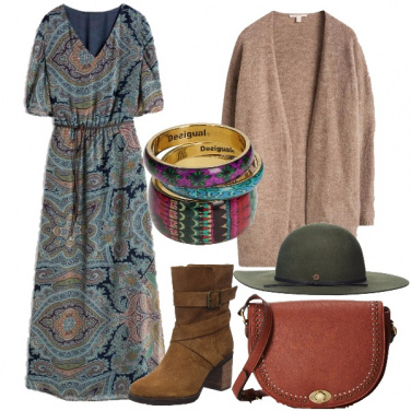 Outfit Bohemian in lungo
