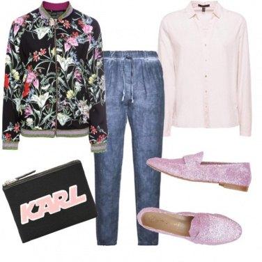 Outfit Mannish con i fiori