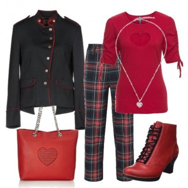 Outfit Schottish red trend