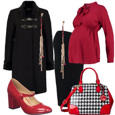Outfit Mamma in rosso