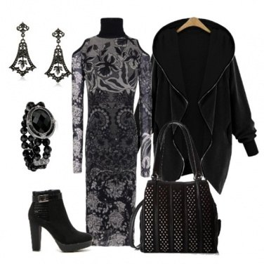 Outfit Back to office in black & gray