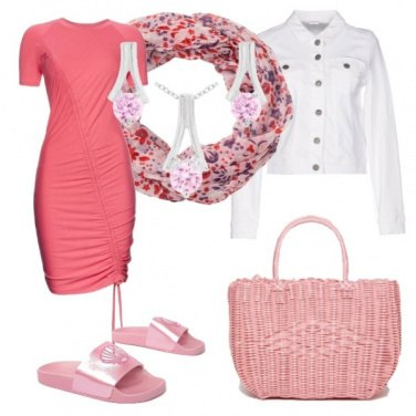 Outfit Weekend al mare in pink