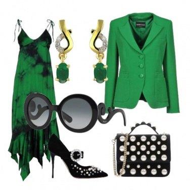 Outfit Serata verde