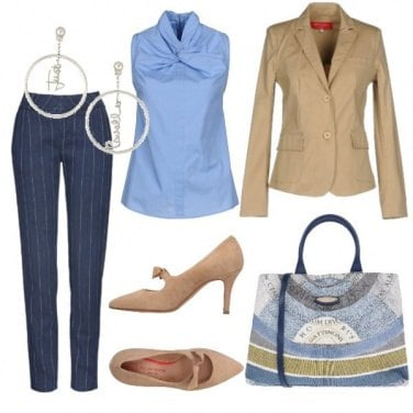 Outfit CMPS Il jeans gessato