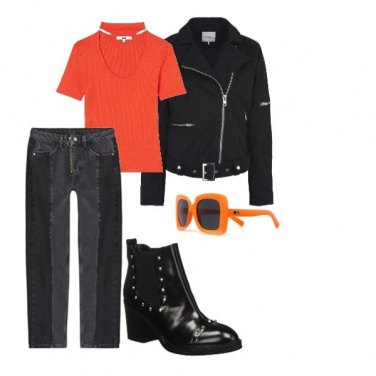 Outfit Orange is the new black