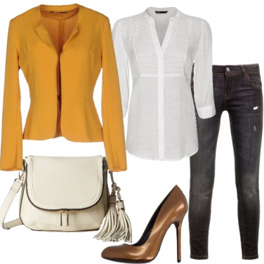 Outfit Brillante in jeans