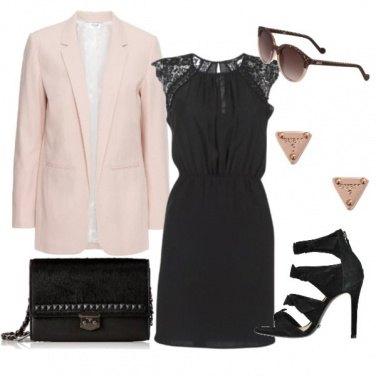 Outfit Nero e rosè