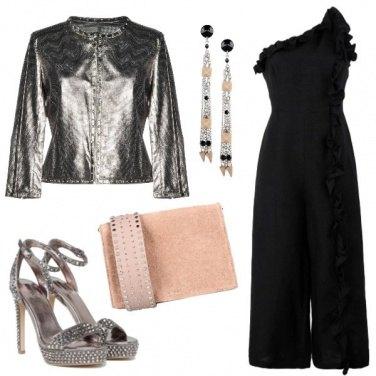 Outfit Argento per la sera