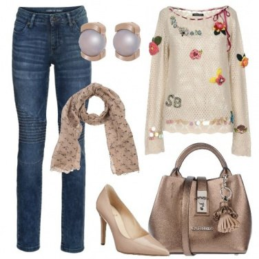 Outfit Jeans e tacco