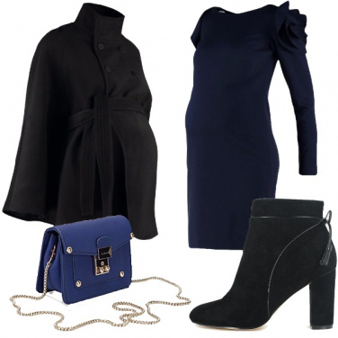 Outfit Blu e nero insieme