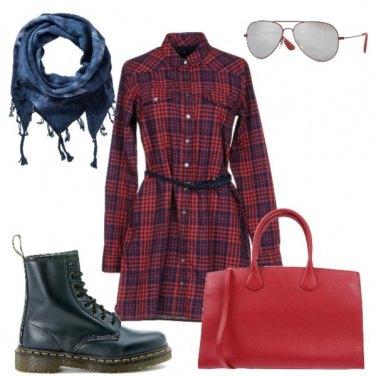 Outfit Anfibi e tartan