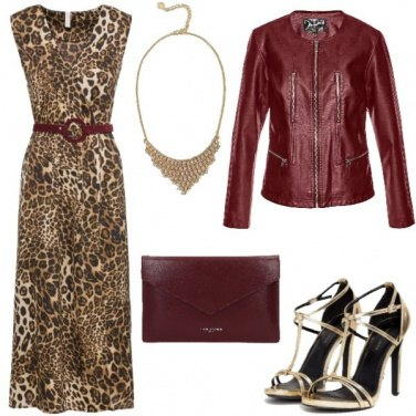 Outfit Ecopelle e animalier