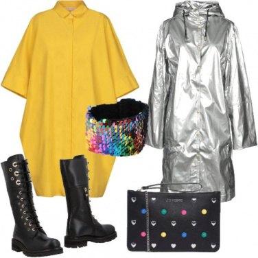 Outfit Effetto metallo