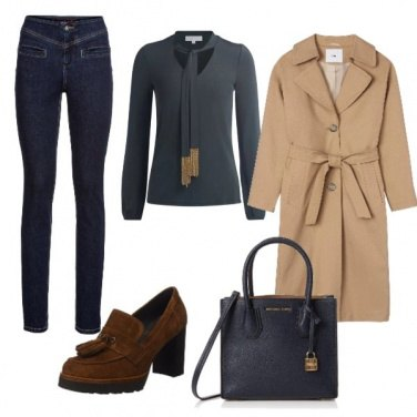 Outfit Trench e blue jeans