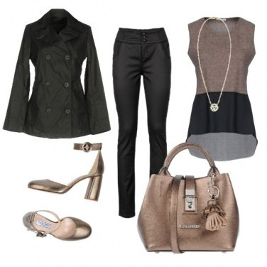 Outfit CMPS Nero e marron glacé