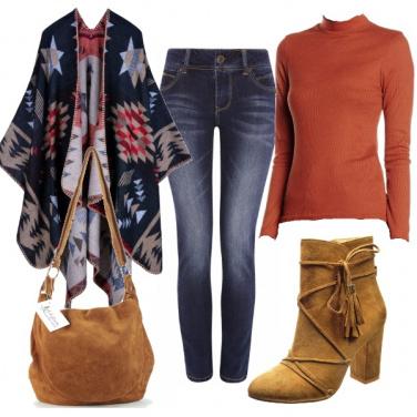 Outfit Tacco, jeans e fantasia
