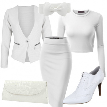 Outfit Sexy e chic in total white