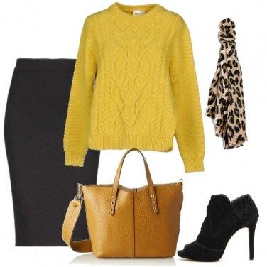 Outfit Ocra e animalier