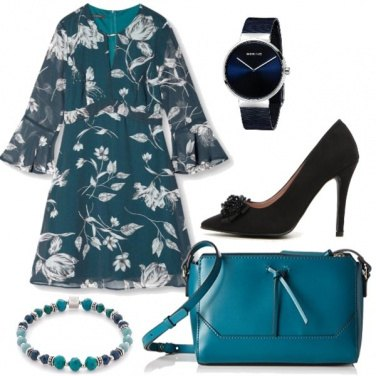 Outfit Abito turchese