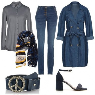 Outfit CMPS Cappottino in jeans
