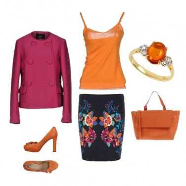 Outfit Funny orange