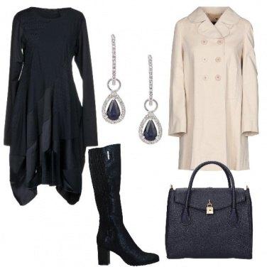 Outfit Stivali e caban