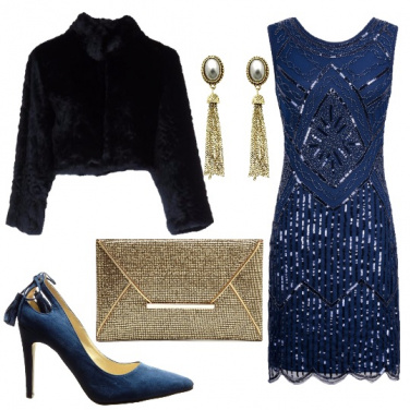 Outfit Blu ed oro