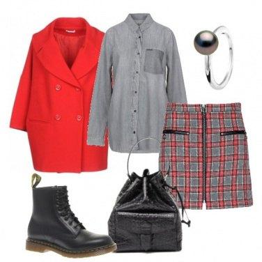 Outfit Tartan e oversize