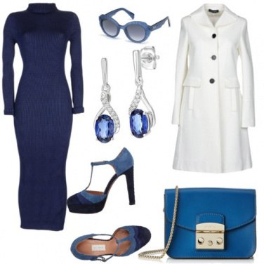 Outfit Bianco e blue