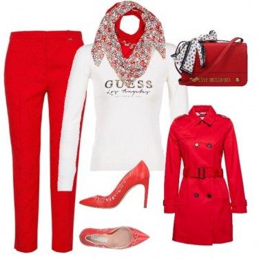Outfit Rossa in Ufficio