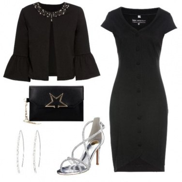 Outfit Bon ton black and silver