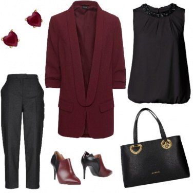 Outfit Dark red jacket