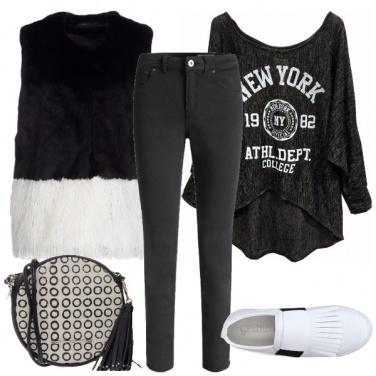 Outfit Bianco e nero per tutti