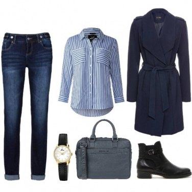 Outfit Università in blu