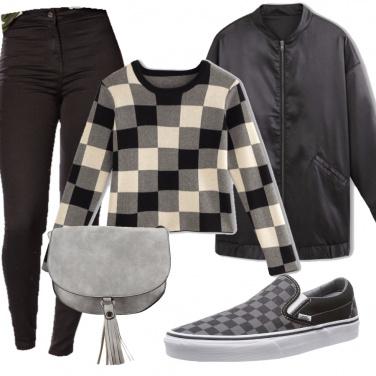 Outfit Urban bianco e grigio