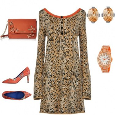 Outfit Arancio e maculato