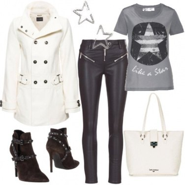 Outfit Rock con il trench