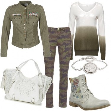 Outfit Verde e camouflage