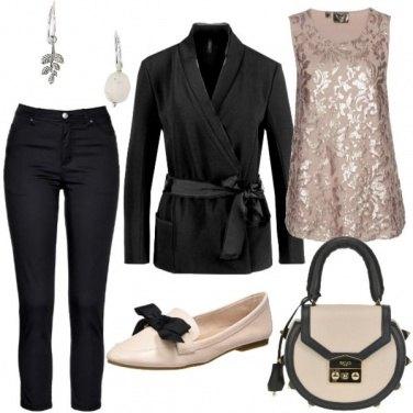 Outfit Lucentezza e paillettes