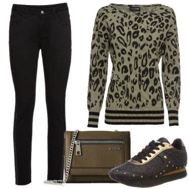 Outfit Il pull animalier