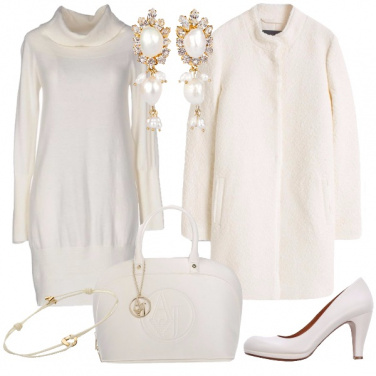 Outfit Bianco glamour